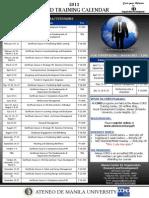 ACORD Training Calendar 2013