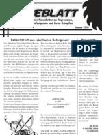 Sägeblatt – anarchistischer Newsletter zu Repression, Solidarität, Gefangenen und ihren Kämpfen – Januar 2013