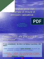 Analisi statistica dei dati:un esempio di misura diemissioni radioattive
