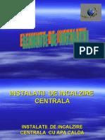 Instalatii de Incalzire Centrala Cu Apa Calda