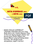 AKTA KOPERASI 1993