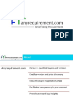 Anyrequirement.com corporate presentation