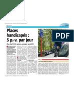 La Nouvelle Gazette - Places handicapées