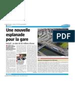 La Nouvelle Gazette - Une Nouvelle Esplanade Pour La Gare - 13-12-12