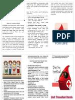 brosur donor darah