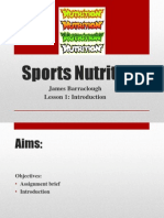 Sports nutrition lesson 1