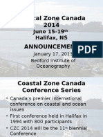 CZC2014 January 2013 Announcement