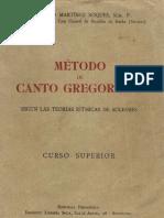 metodo de canto gregorianos
