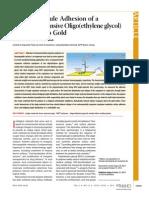 Single-Molecule Adhesion of a Stimuli-Responsive Oligo(ethylene glycol) Copolymer to Gold