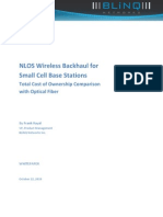 NLOS Wireless Backhaul for Small Cells - TCO Comparison with Optical Fiber
