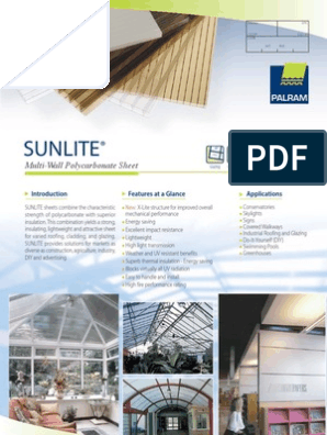 Sunlite Brochure Thermal Expansion Building Insulation