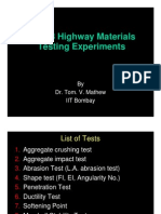 Highway Materials Testing Experiments