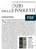 Il Silenzio Delle Innocenti, LOREDANA LIPPERINI Sul Libro Di Riccardo Iacona - La Repubblica 17.01.2013