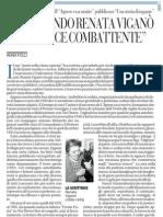 RISCOPRENDO RENATA VIGANÒ, SCRITTRICE COMBATTENTE - La Repubblica 17.01.2013