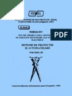 PE 504/96 - Normativ pentru proiectarea sistemelor de circuite secundare ale statiilor electrice