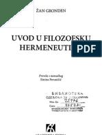 "Žan Grozden ""Uvod u Filozofsku Hermeneutiku"""
