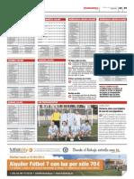 Publicación de las clasificaciones de las ligas Futbolcity en Superdeporte. Miércoles 16 de enero 2013