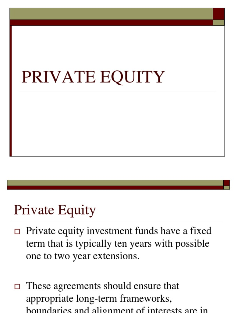 Private equity employee stock options