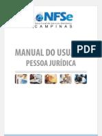 Manual NFSe PJ - Campinas