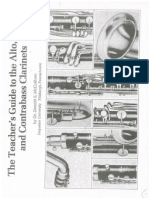 The Teachers Guide to the Alto Bass an Contrabass Clarients