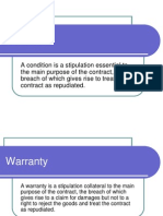 condition & warranties