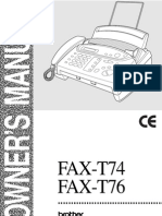 Manual de Usuario FAX-T74 y T76