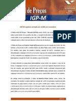 RELATORIO IGP-M FECHAMENTO NOV 12