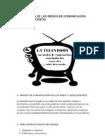 LA INFLUENCIA DE LOS MEDIOS DE COMUNICACIÓN EN LA ADOLESCENCIA
