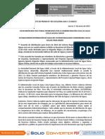 Boletín de Prensa N° 03-2013