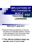 Implications of Change Wed7march