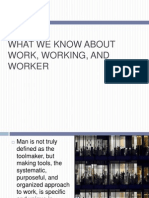 What we know about work, working and workers