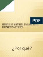 Manejo de sintomas psiquiátricos en medicina Interna