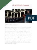 Cumplimiento de la Declaración Patrimonial Pública (Discurso íntegro de EPN)