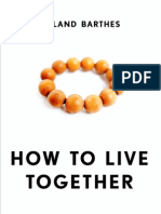 Roland Barthes -- How to Live Together