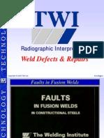 Weld defects interpretation