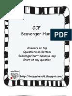 GCF Scavenger Hunt