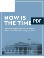 The White House - Now Is The Time gun control plan