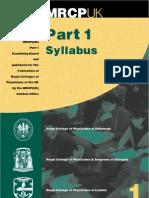 MRCPUK Part 1 Syllabus