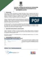 Manual de manejo de la base de datos de cotización