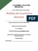 Análisis de la práctica docente, segunda jornada