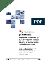 Elaboración del estudio de preinversión para la creación de un centro de servicios logísticos y alta tecnología multimodal Lima-Callao