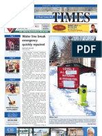 January 18, 2013 Strathmore Times, Volume 5, Issue 3, Locally Owned & Operated, local news, local sports