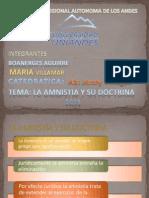 LA AMNISTÍA Y SU DOCTRINA