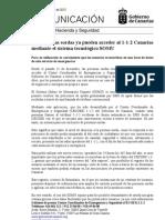 Las personas sordas ya pueden acceder al 1-1-2 Canarias  mediante el sistema tecnológico SOMU