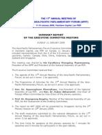 Summary Report- 17th APPF Laos Jan09