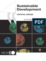 Sustainable developement- Critical Issues