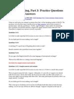 IELTS Speaking Exam Questions