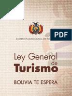 Nueva ley general de turismo Bolivia