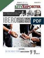 Minority Reporter newspaper, week of January 21