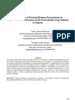 External Business Environment